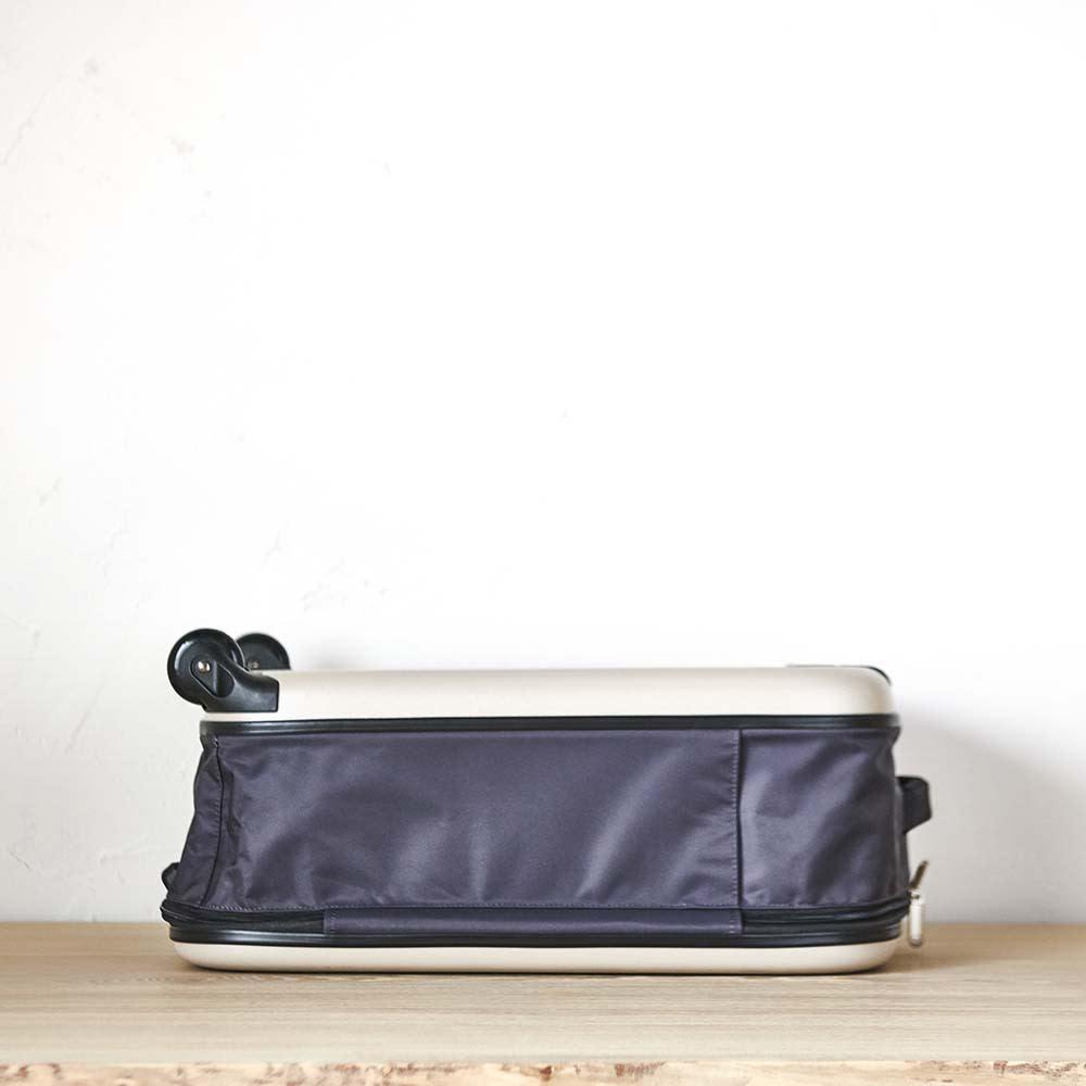 ROLLINK 薄くたためるスーツケース容量40L/機内持ち込みサイズ 側面部
