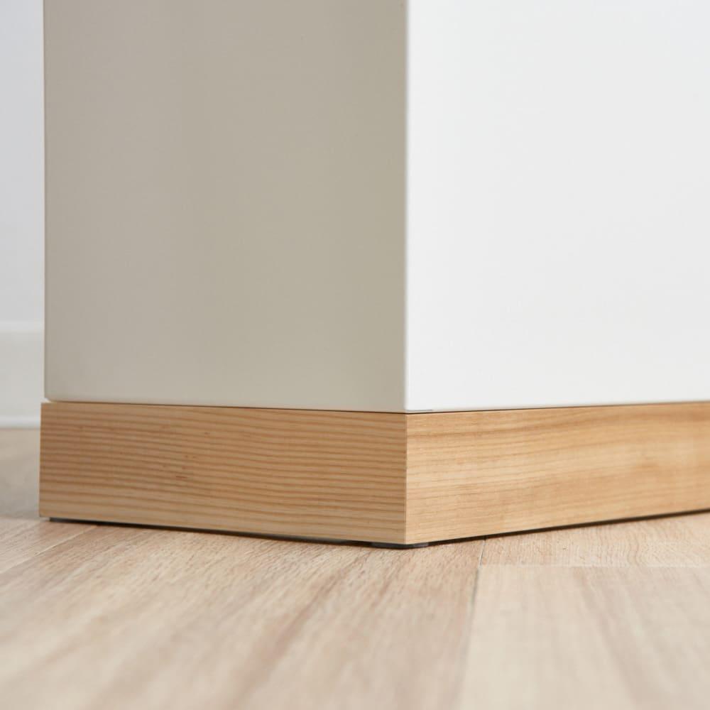 ミヤケデザイン ダストボックス 30L 木製台タイプ(蓋なし・蓋付き) 贅沢に土台に天然木の無垢材を使用。床との相性もグッドです。