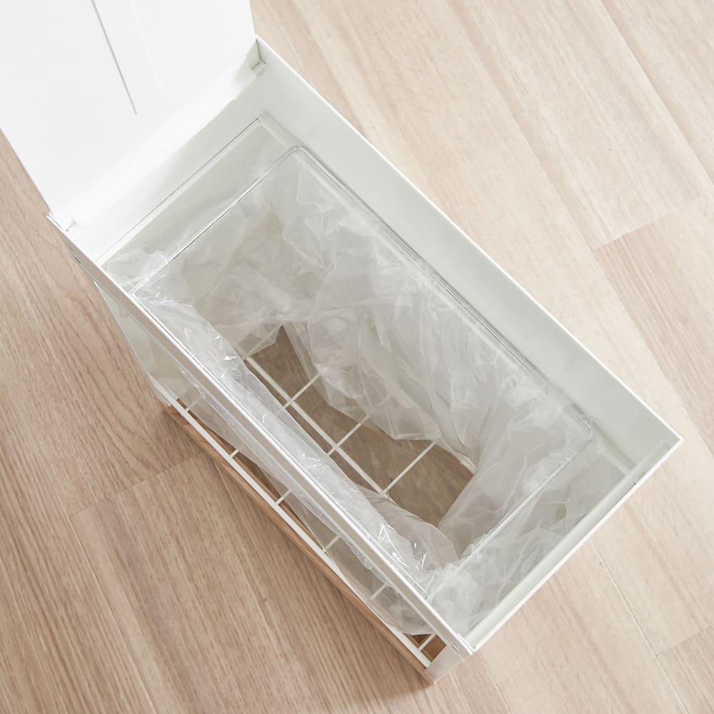 ミヤケデザイン ダストボックス 30L 木製台タイプ(蓋なし・蓋付き) 20~30L袋枠は1分別用