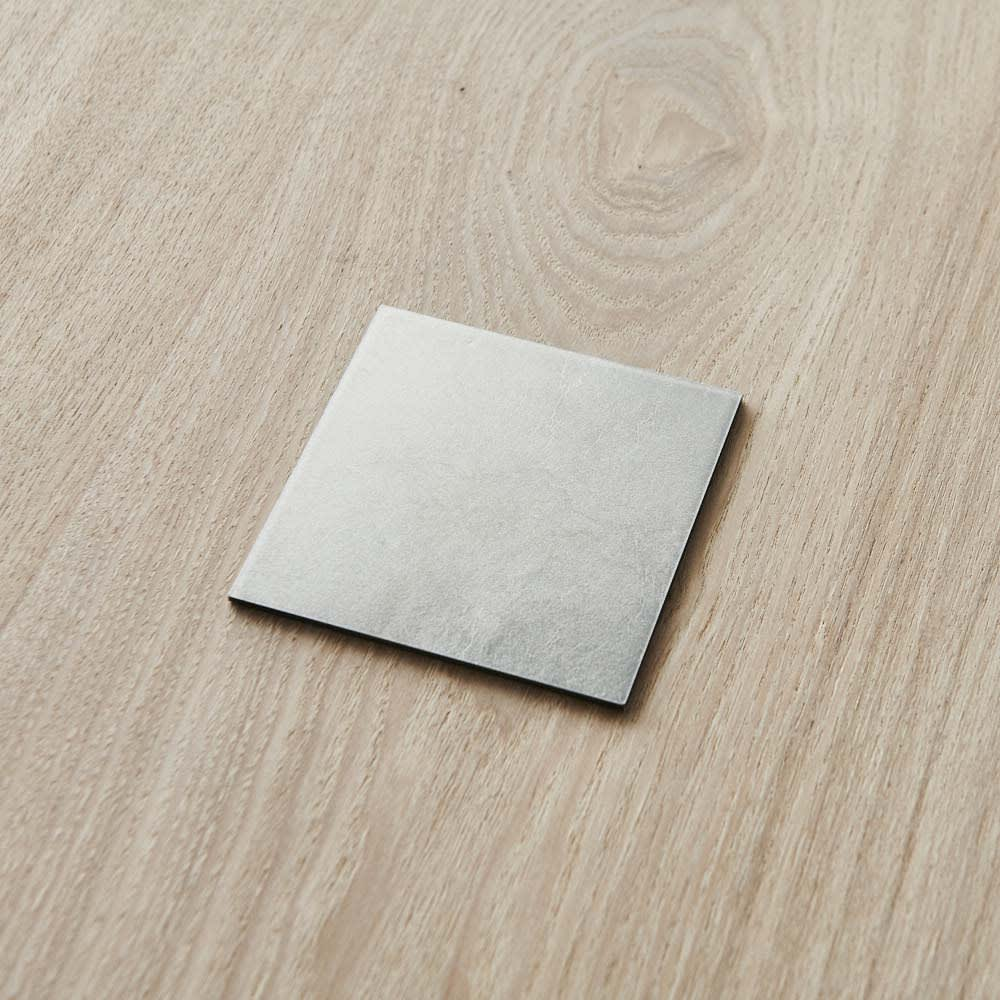 HAKU LA TABLE(ハク ラ ターブル) コースター同色2枚組(約10×10cm) (イ)シルバー 同色2枚組