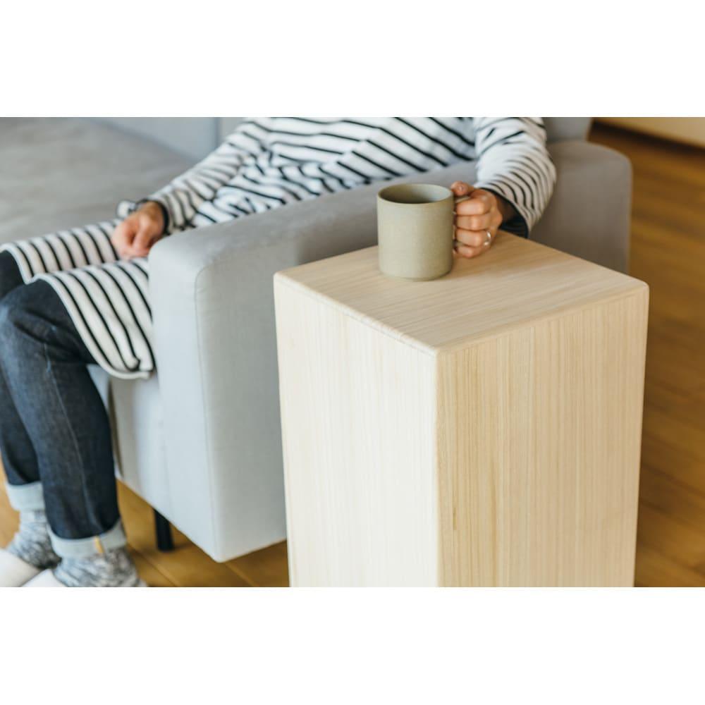 かるばこ テーブル&スツール 高さ60cm使用時