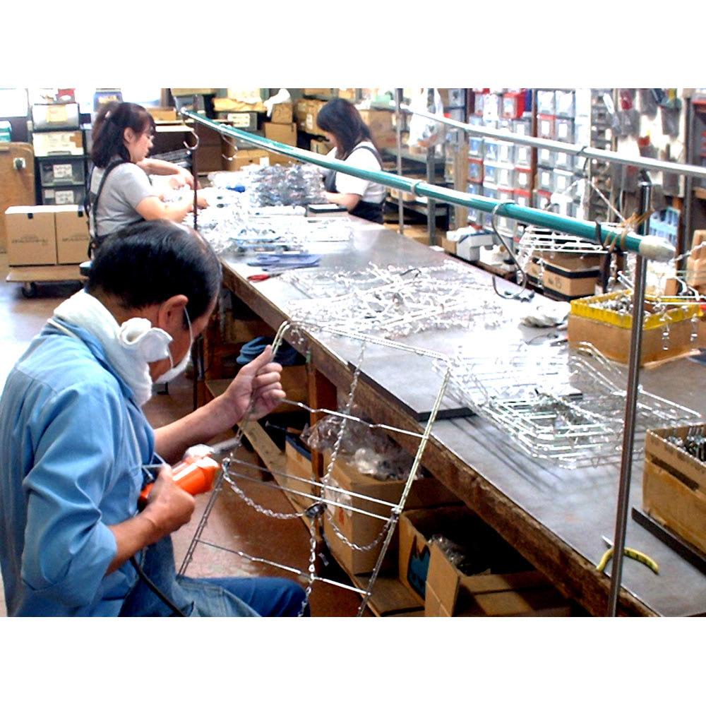 18-8ステンレス ピンチハンガー丸型Lサイズ(ピンチ24個付き) 大木製作所の製造風景