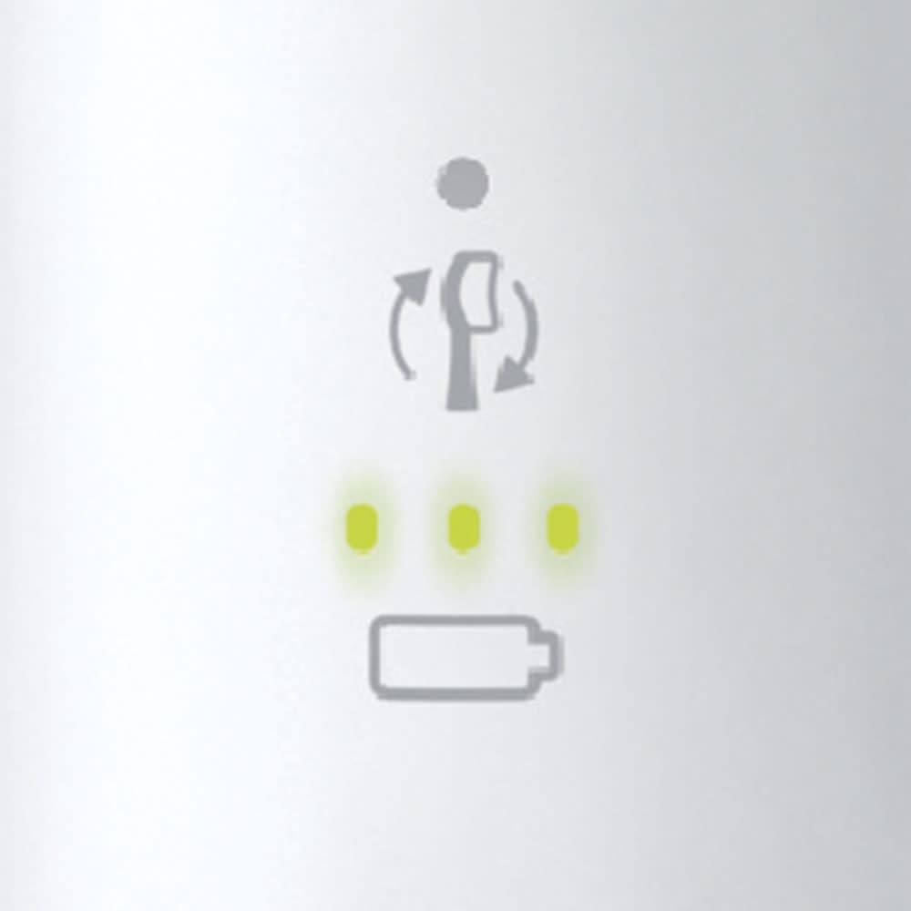 ソニッケアー プロテクトクリーンプレミアム 特別セット ブラシヘッド交換お知らせ ブラシの交換タイミングをハンドルのランプでお知らせ。
