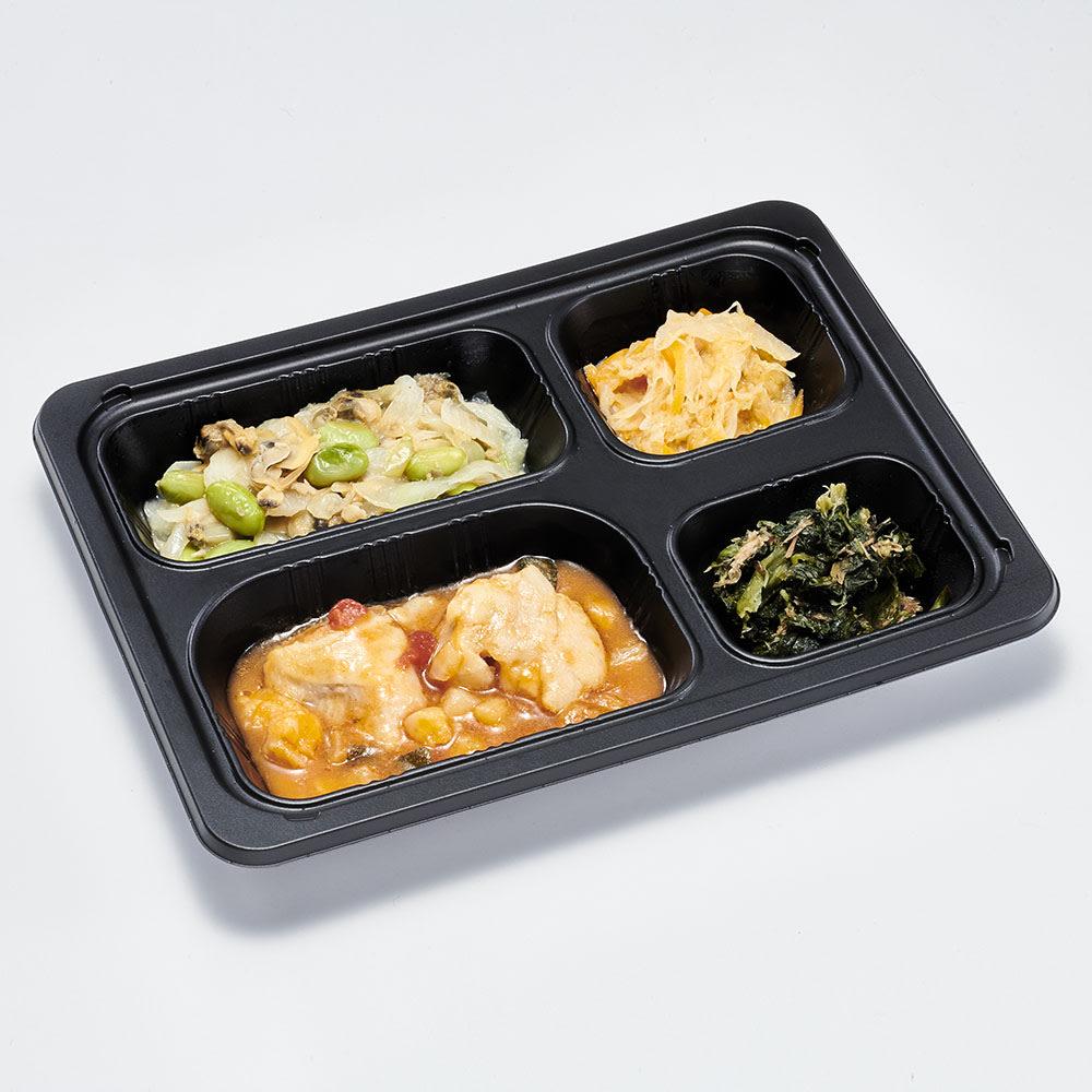 糖質制限7食セット 牛肉のオイスター炒め 副菜:鶏豆腐・ごぼうサラダ・オクラの胡麻和え