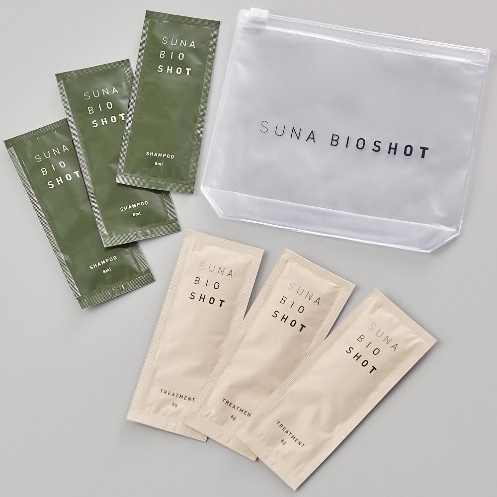 SUNA BIOSHOT スカルプエッセンス 180ml 購入いただいた方にSUNA BIOSHOTのシャンプー&トリートメントのパウチ各3包をプレゼント!(限定50セット)