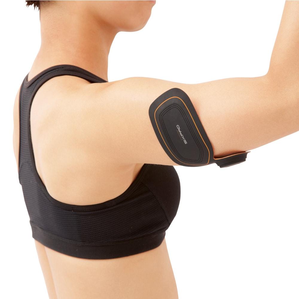 SIXPAD/シックスパッド Body Fit(ボディフィット) 1個 ◆HOW TO USE◆気になる二の腕にも 太っていても痩せていても、二の腕の緩みに悩むマチュア女性は多い。鍛えにくい場所だからこそ、シックスバッドが威力を発揮します。