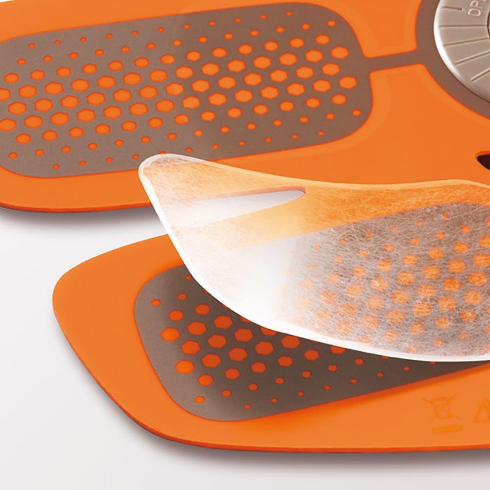 SIXPAD/シックスパッド Body Fit(ボディフィット) 1個 高電導ジェルシート ベタつかないのに粘着力に優れた装着用シート。均一に電気を伝える。(画像はAbs Fitのものです)