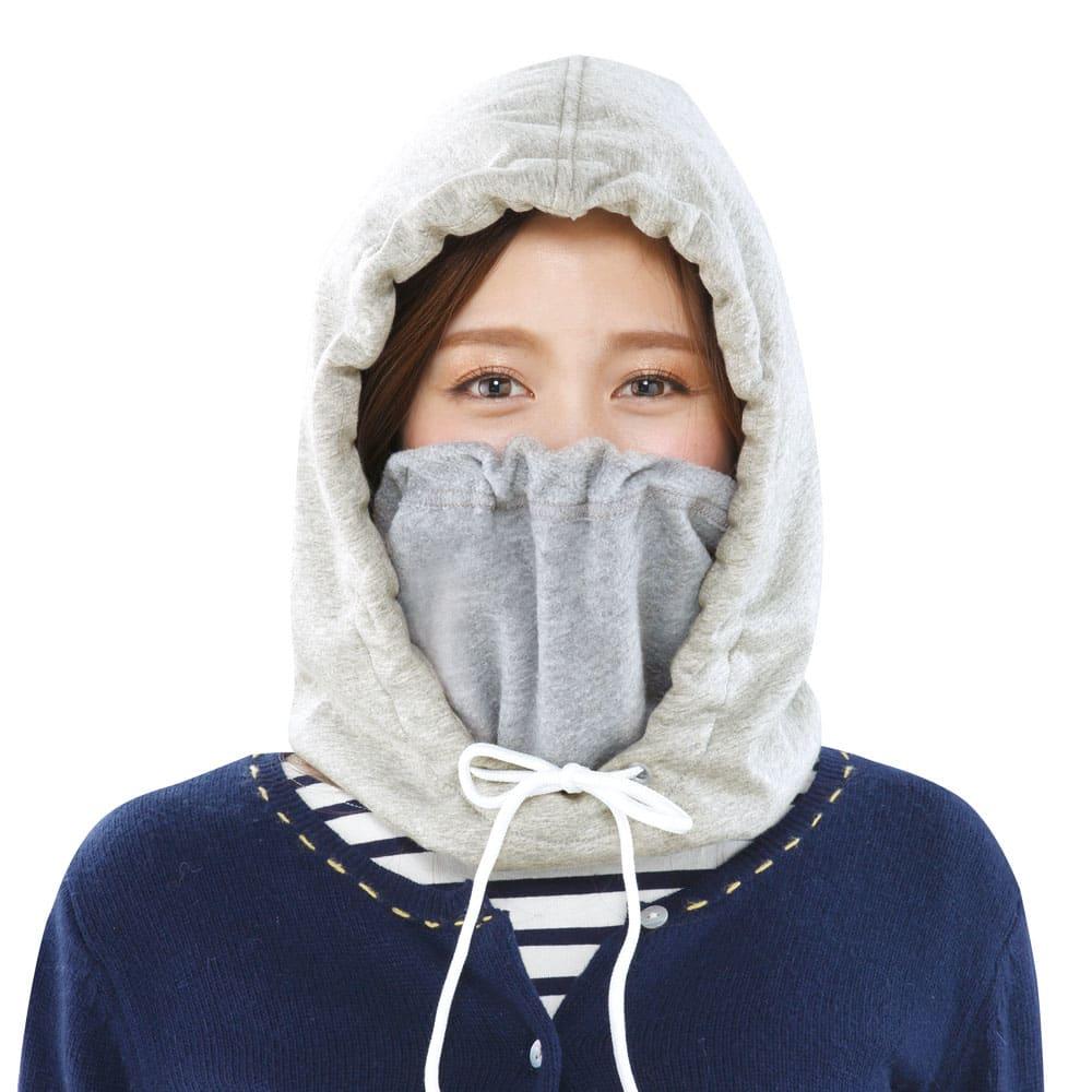 風を通しにくい極暖マフラー コーディネート例  防寒スタイル