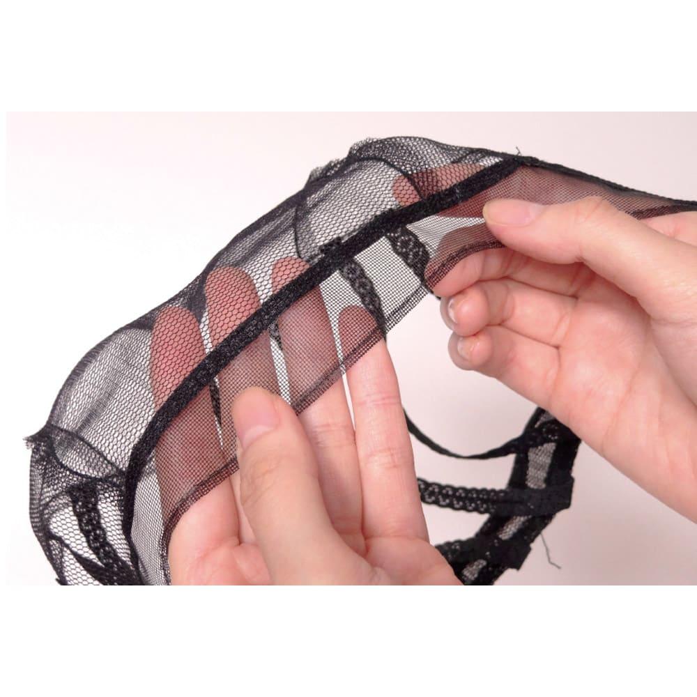 アートネイチャー(ジュリア・オージェ) フルウィッグ ニュアンスボブ 目が細かく、薄い六角ネットを使用。通気性に優れ、つけ心地は快適そのもの。
