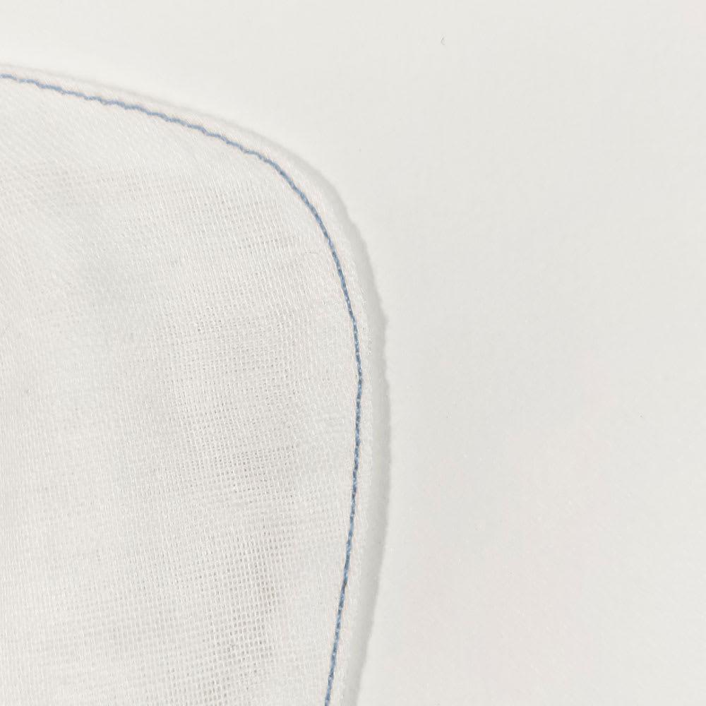 肌側シルクのインナーマスク4枚組 マスク側