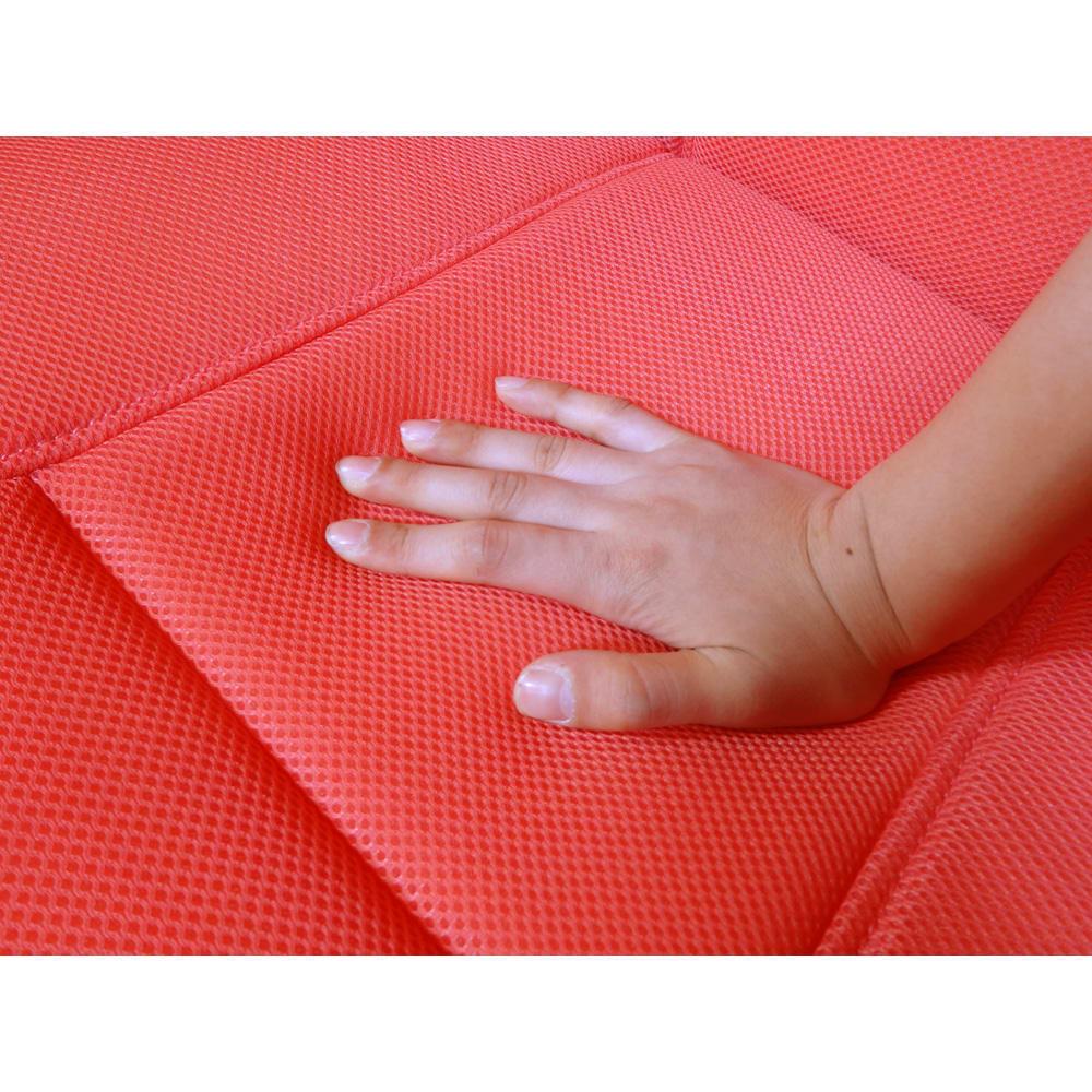 ピュアフィット 快適ソファー座椅子 らくらく腹筋生活DX 側生地は通気性の良いメッシュ素材。