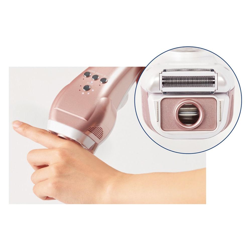 ピーリングフラッシュ(光美容器) スポットカバーを装着すれば、顔・Vライン・指などのピンポイントケアもOK!