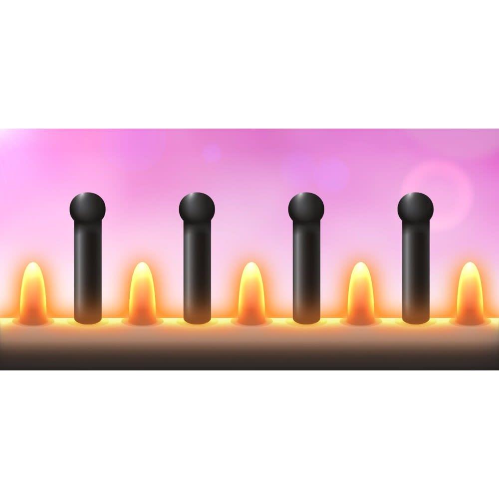 ビューティクル ヘアアイロン ピン自体に熱が通るヒーター構造により、髪をキャッチしながらスピーディに熱を伝えます。
