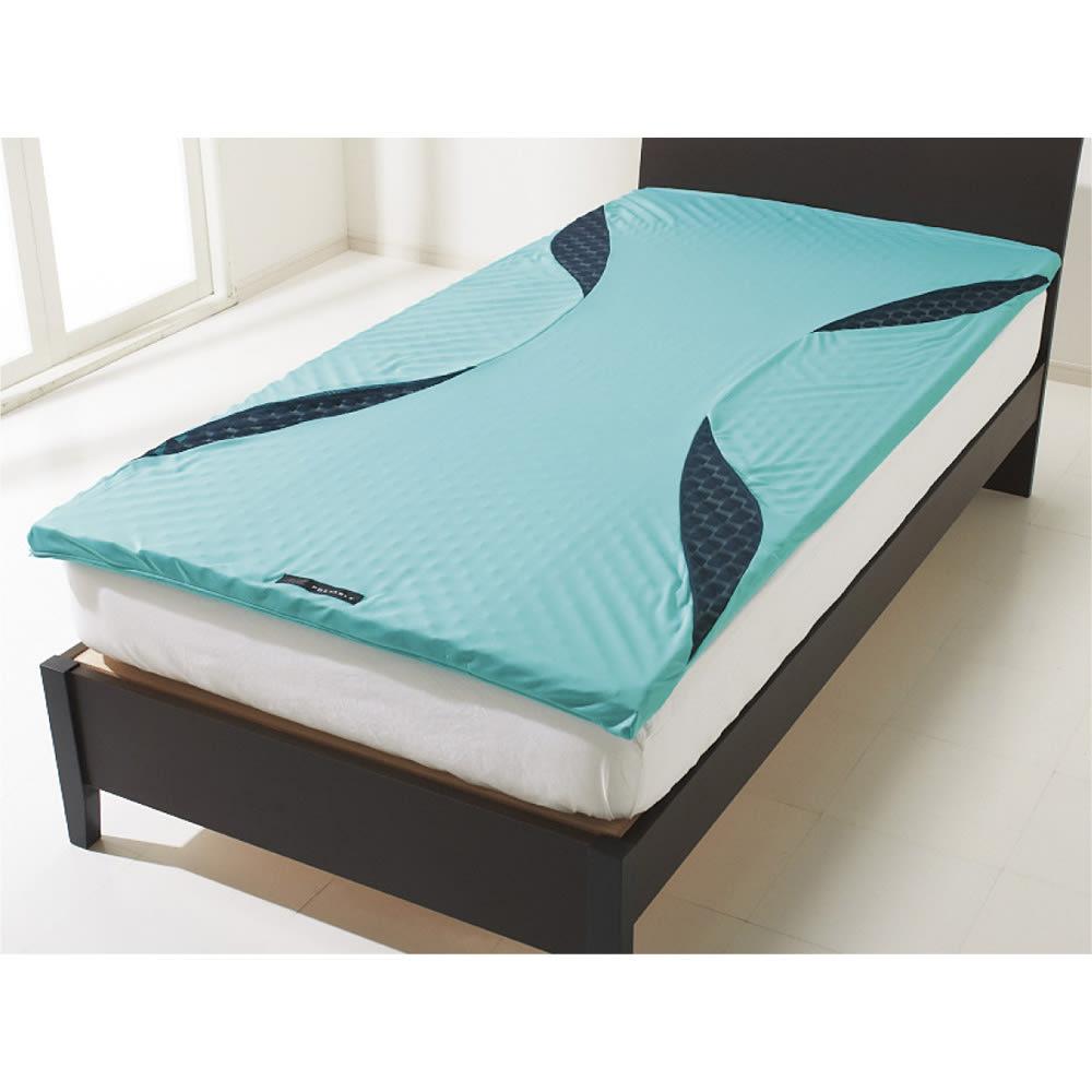 西川 エアーポータブル モバイルマット 今お持ちの敷布団やマットレスに重ねて 敷布団やベッドマットレスに乗せるだけで、その効果が。コンパクトに収納できるので持ち歩きもOK。