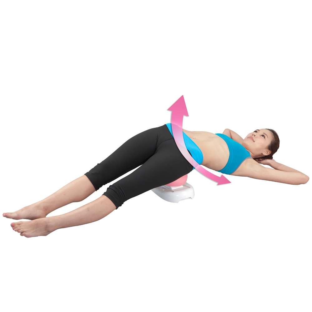 ピュアフィット スイングコア 寝ながら背筋が伸びた状態でスイングするのも効果的。