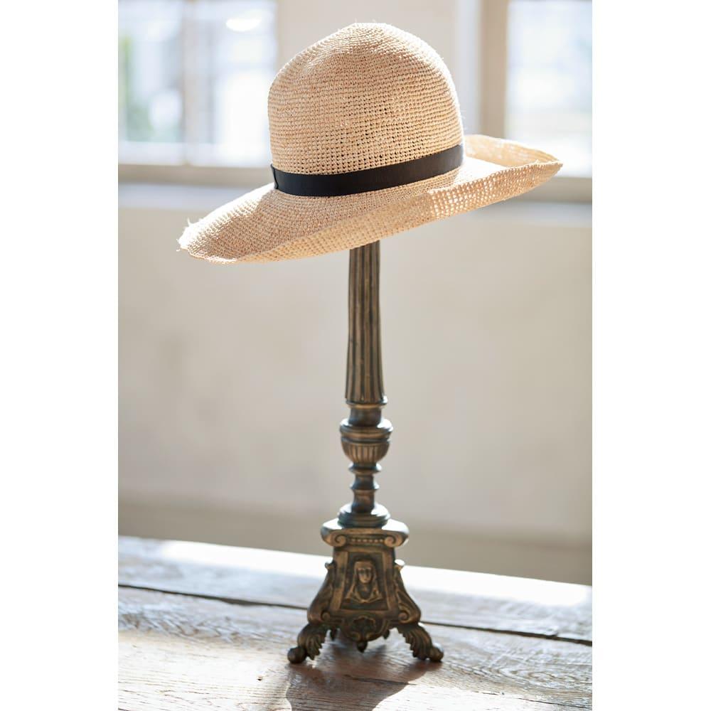 ラフィア帽 たたんでもヨレヨレにならずに美フォルムをキープ!いつでも颯爽とお洒落に着こなせます。