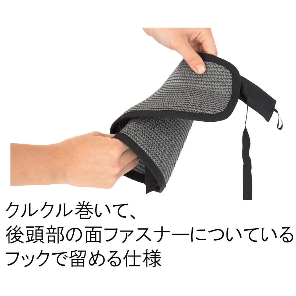 帽子 バイザー クルクル巻いて後部の面ファスナーについてるフラップで止められる