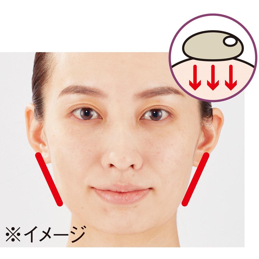 小林照子プロデュース ヴィドシー アール美顔器 小林照子さんこだわりの手の温もりを肌に伝える温感ケア インナーマッスルを刺激し、自然と顔筋トレーニング EMS 電流の一種を筋肉に流すことで、インナーマッスルにアプローチ。顔の筋肉をほぐしながら、鍛え、スッキリしたラインへ導きます。