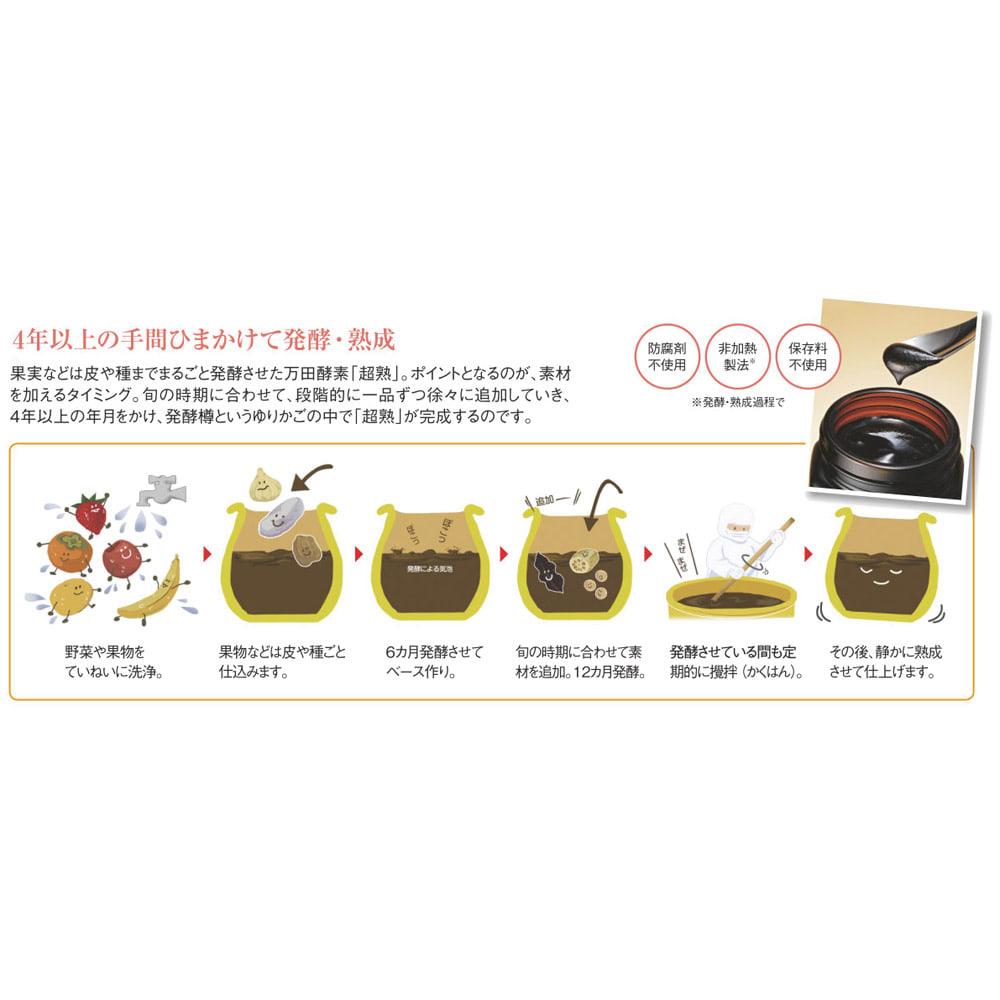 万田酵素「超熟」 粒状 300g(約850粒) 旬の時期に旬の素材を加えて発酵・熟成
