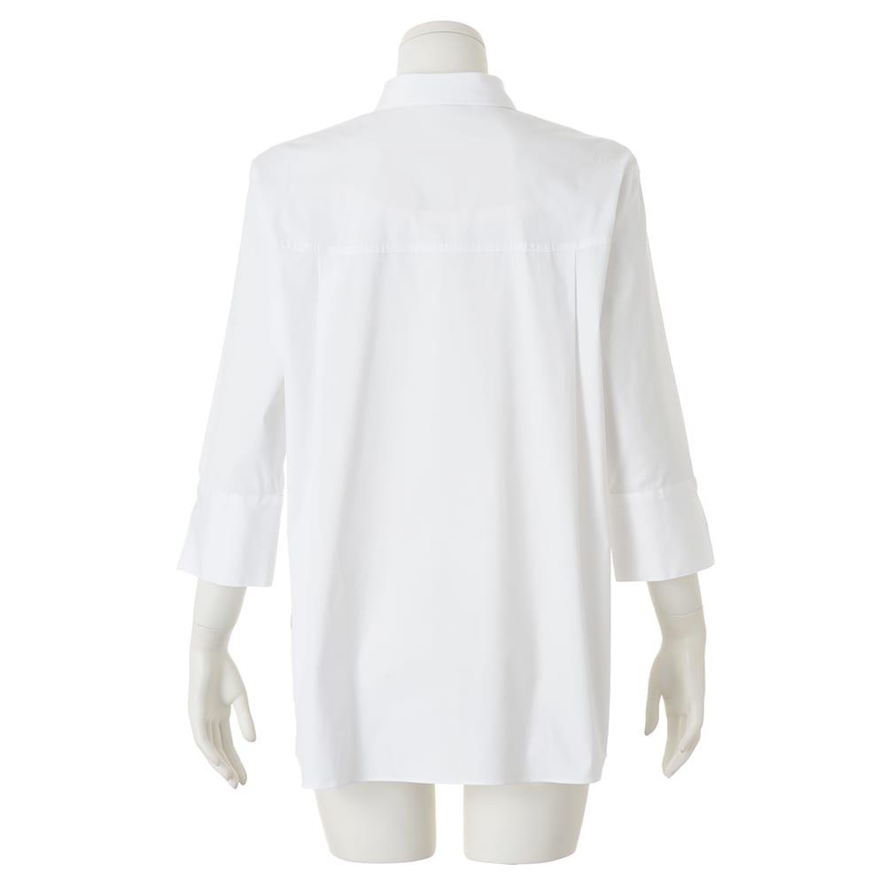コットンブロード オーバーサイズ シャツ