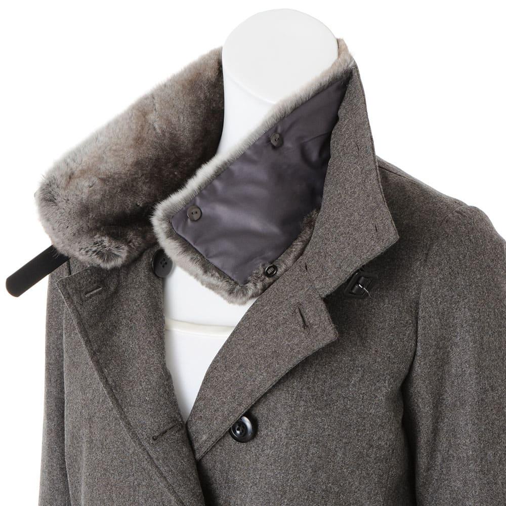 コロンボ社 オリラグファー付き ダウンコート ファー襟付き(取り外し可)   ※インナーは含まれません。
