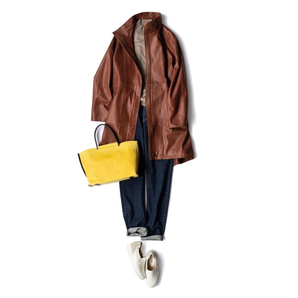エントルフィーノ モッズ風デザイン コート コーディネート例