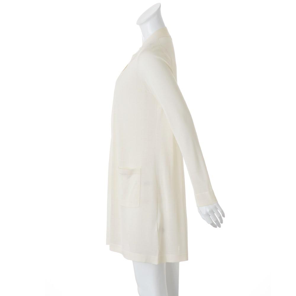 洗えるシルク 天竺編み トッパーロングカーディガン