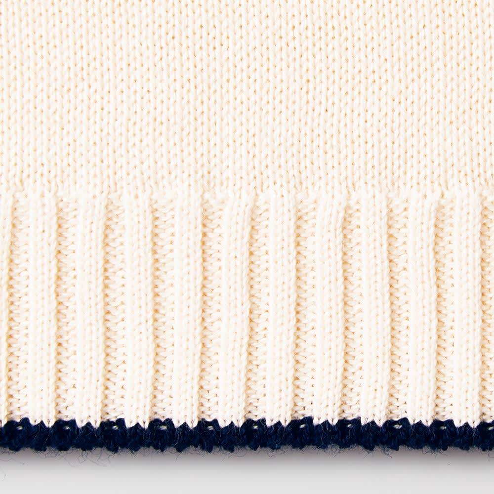 ホールガーメント(R) 海島綿 クルーネック プルオーバー 裾部分