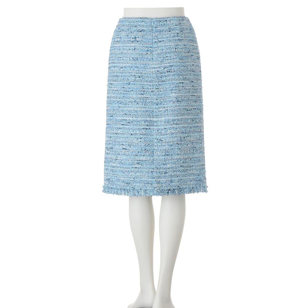 マリア・ケント社 ブルーツイード スカート