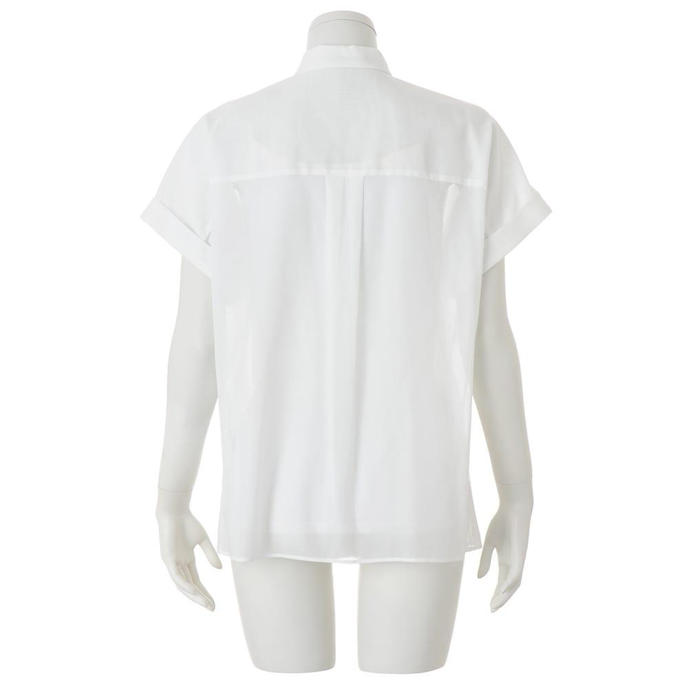 コットンボイル タック シャツ