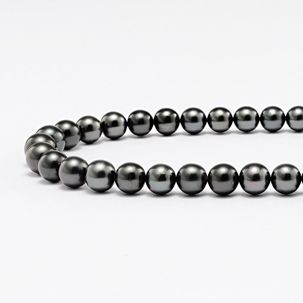 黒蝶パール 2点セット(ネックレス+イヤリング・ピアス) ネックレス