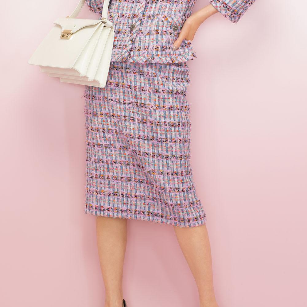 マリア・ケント社 リボンヤーン ツイード スカート 着用例