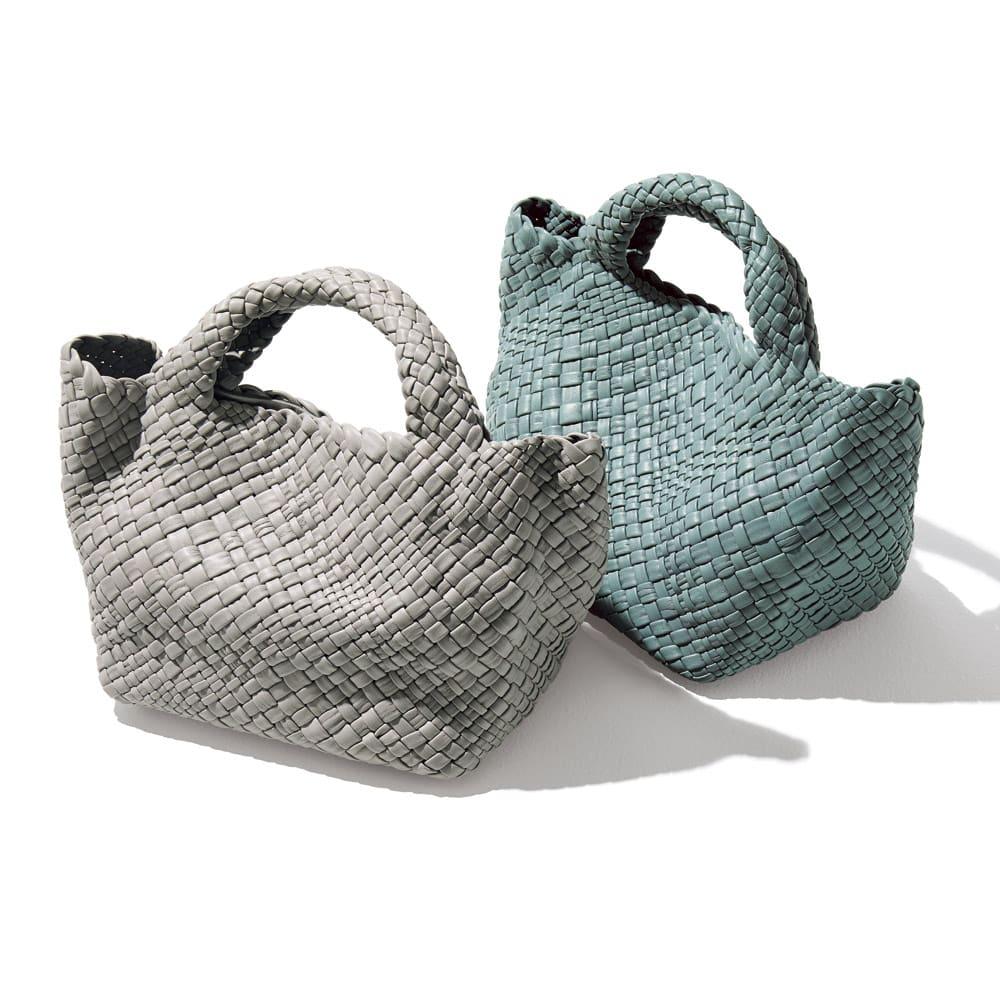 FALORNI/ファロルニ ランダムメッシュ バッグ(イタリア製) 左から (イ)グレージュ (ア)ペールブルー