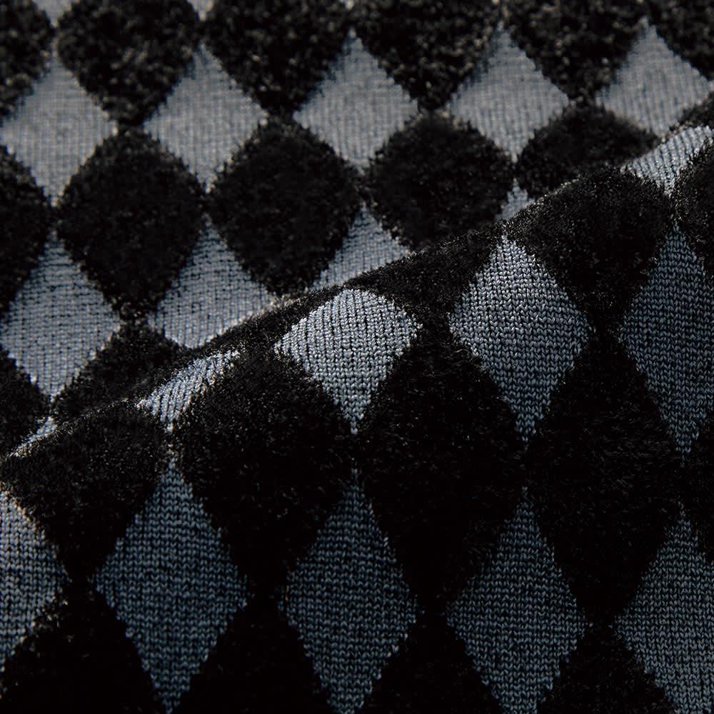 ダイヤ柄 ジャカード編み ワンピース 生地アップ
