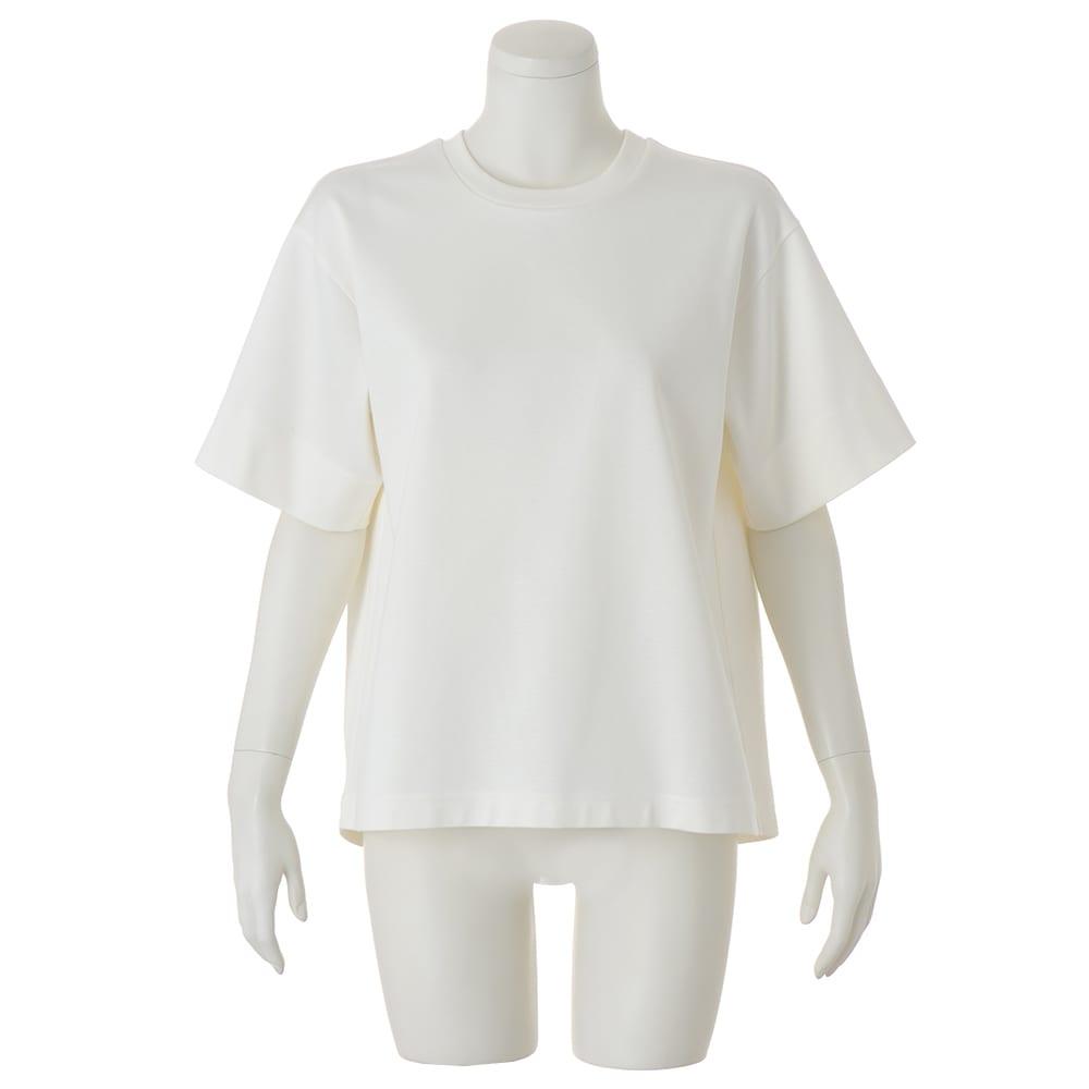 シルケット コットンジャージー Tシャツ (イ)オフホワイト