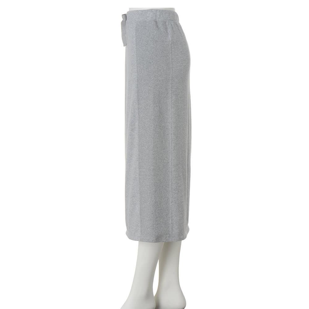 「スマイルコットン」 ハイゲージ 裏毛 スカート