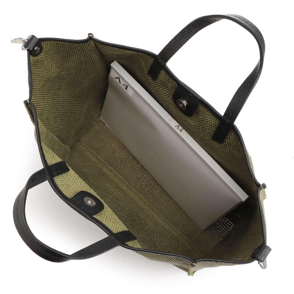 LAURA DI MAGGIO(R)/ラウラ ディ マッジオ パンチング 2WAY バッグ(イタリア製) A4横サイズ収納可