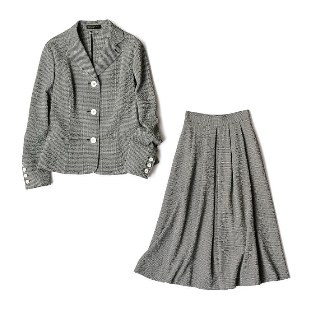チェルッティ社 ウールサッカー セットアップ(ジャケット+スカート)