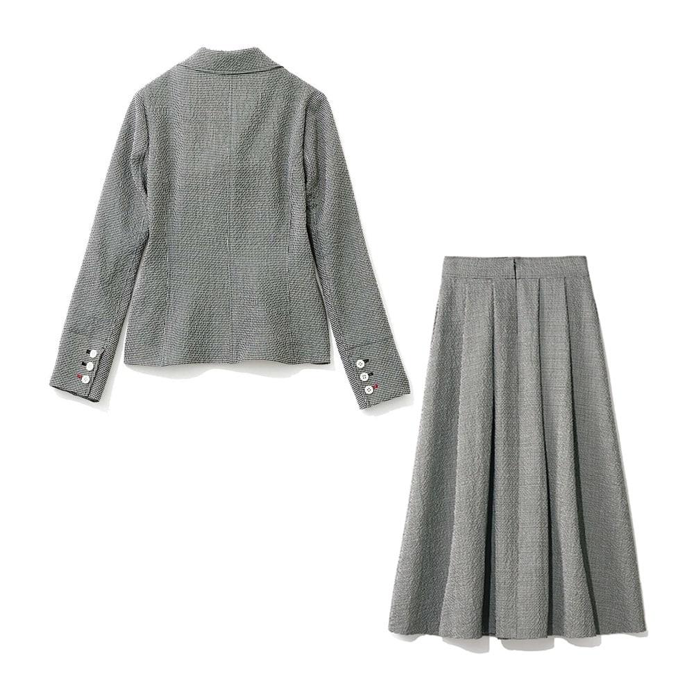 チェルッティ社 ウールサッカー セットアップ(ジャケット+スカート) BACK