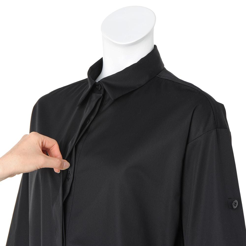 イタリア素材 サファリシャツ ワンピース