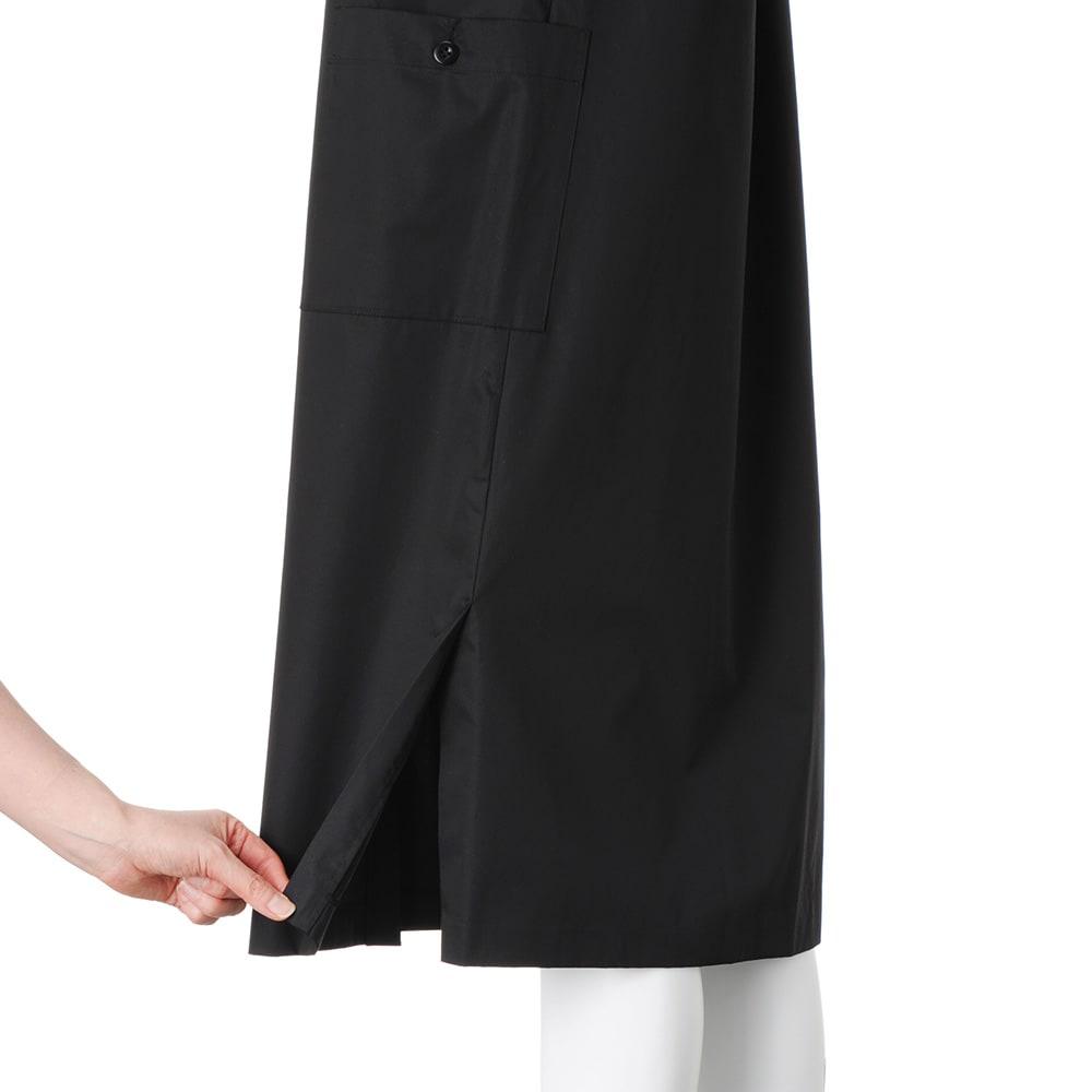 イタリア素材 サファリシャツ ワンピース 両脇裾ベント仕様