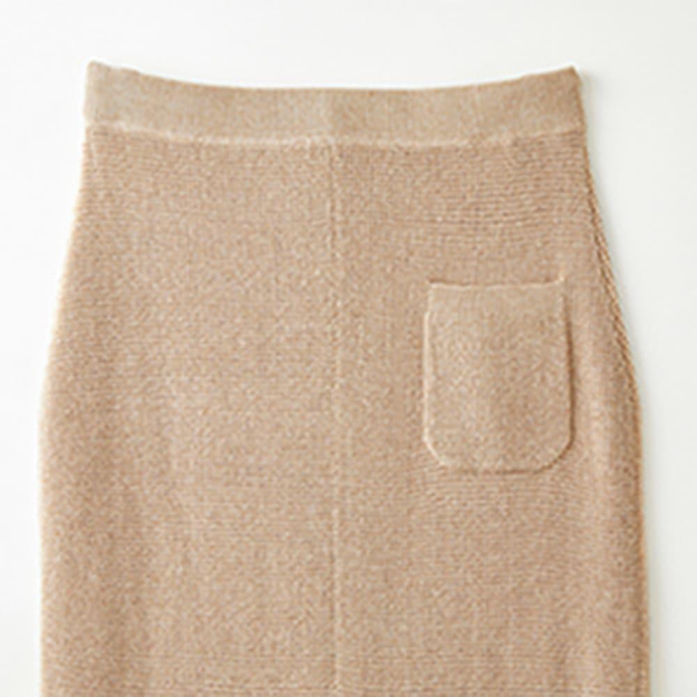 シルク混 ワッフル柄編 シリーズ スカート Back Style