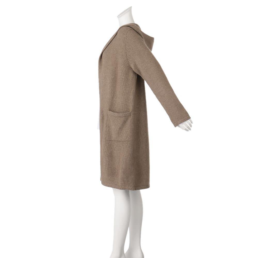 モンゴル ヌーヴォーカシミヤ フード付き ロングコート