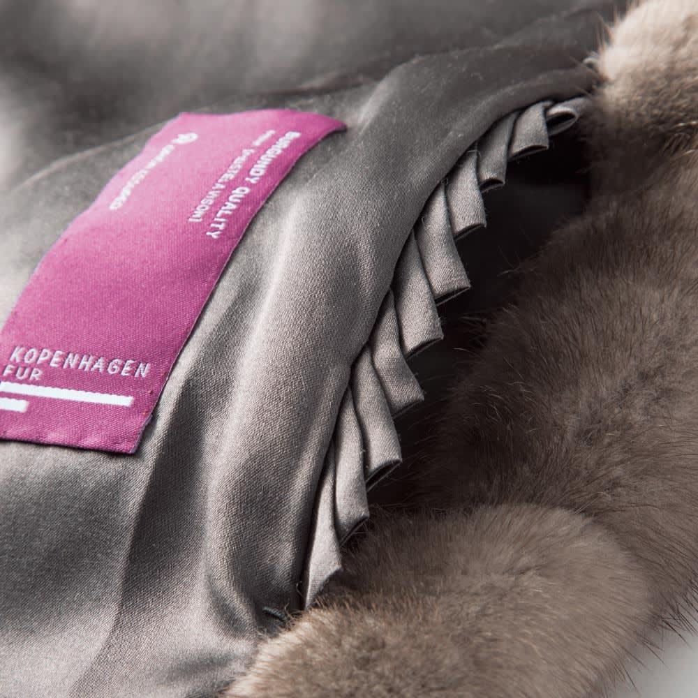 「コペンハーゲンファー」 ブルーアイリスミンク コート 内側ポケット部分
