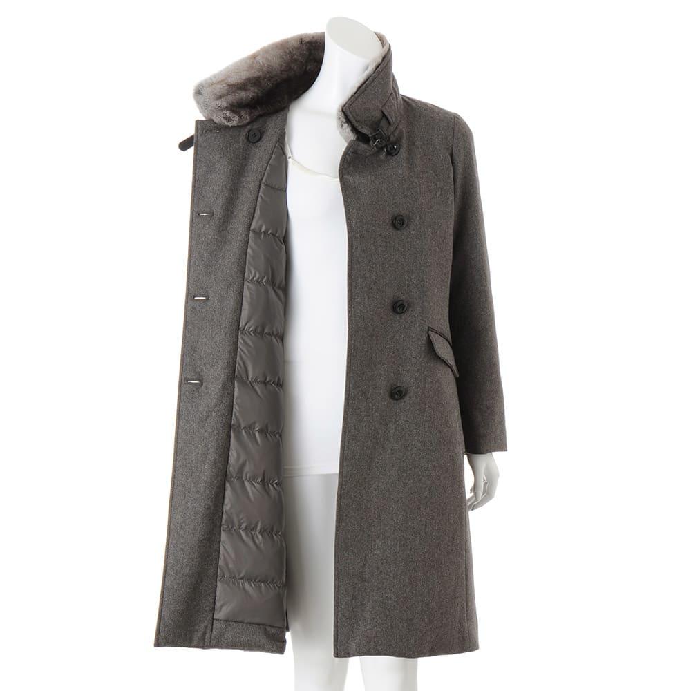 コロンボ社 オリラグファー付き ダウンコート 袖部分にもダウンが入っています。 ※インナーは含まれません。