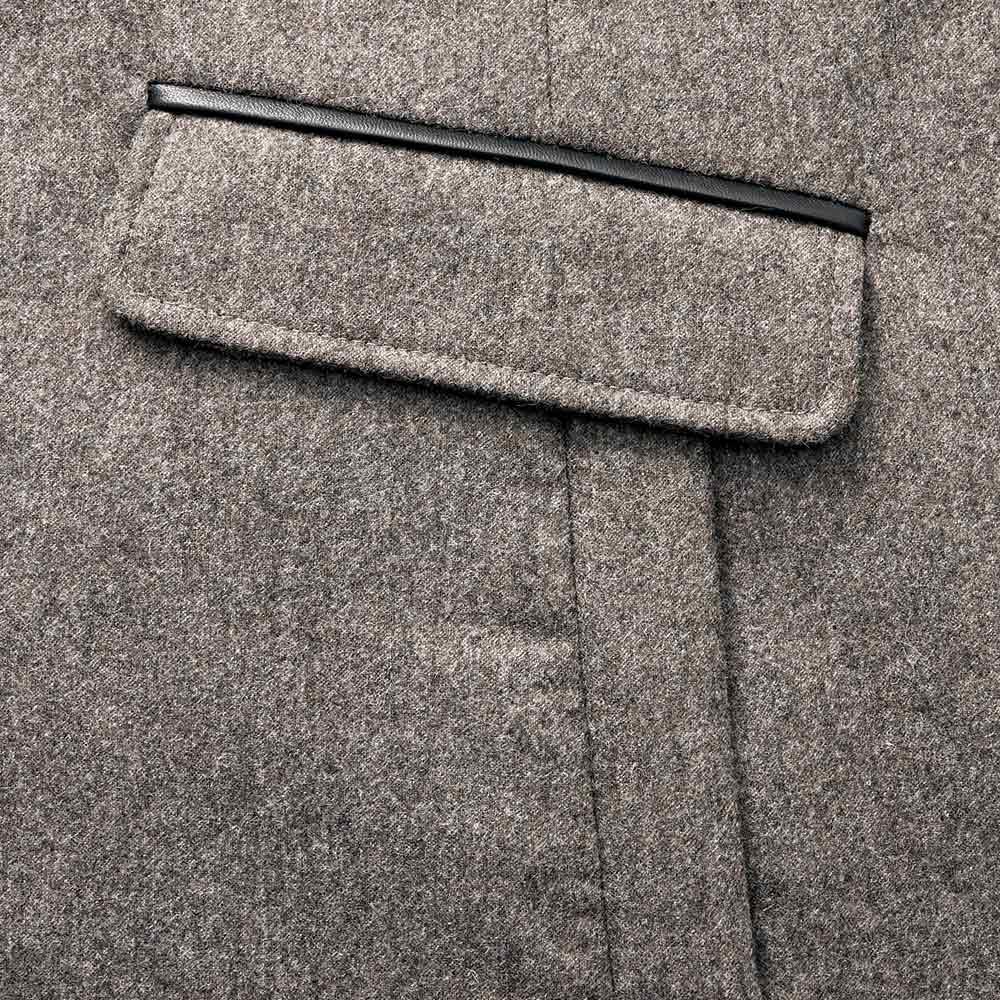 コロンボ社 オリラグファー付き ダウンコート ポケット部分