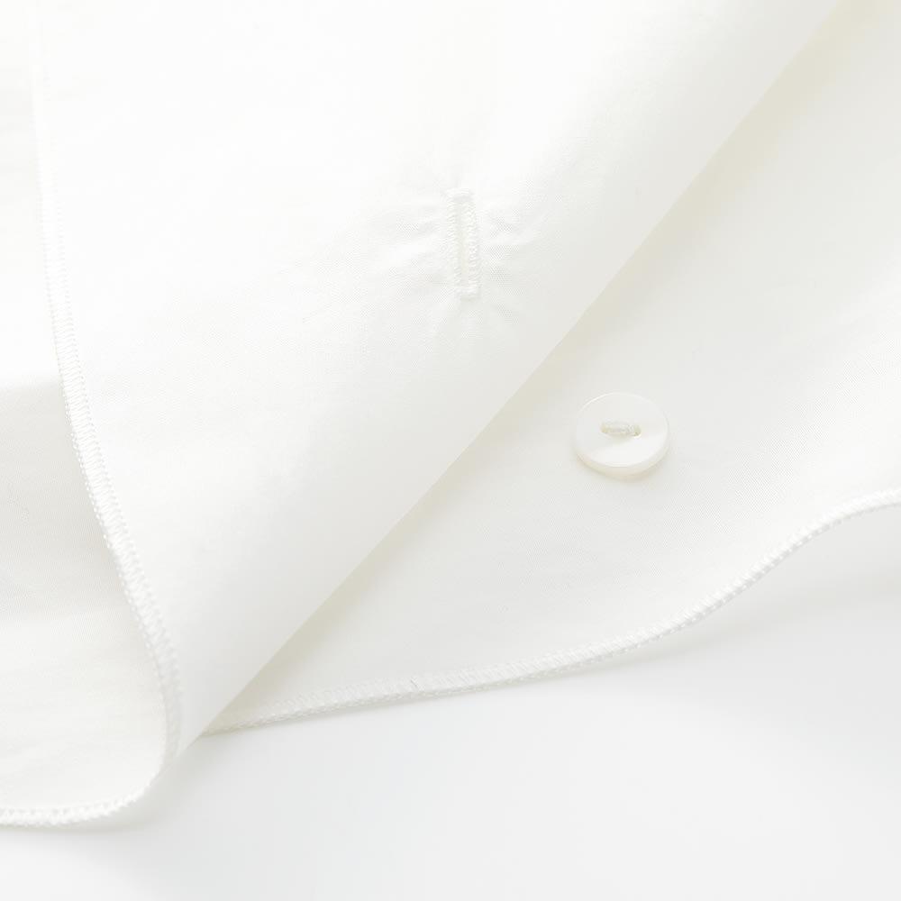 ボウタイ付き 3WAY バンドカラー シャツ ボウタイは後ろ襟のボタンで取り外し