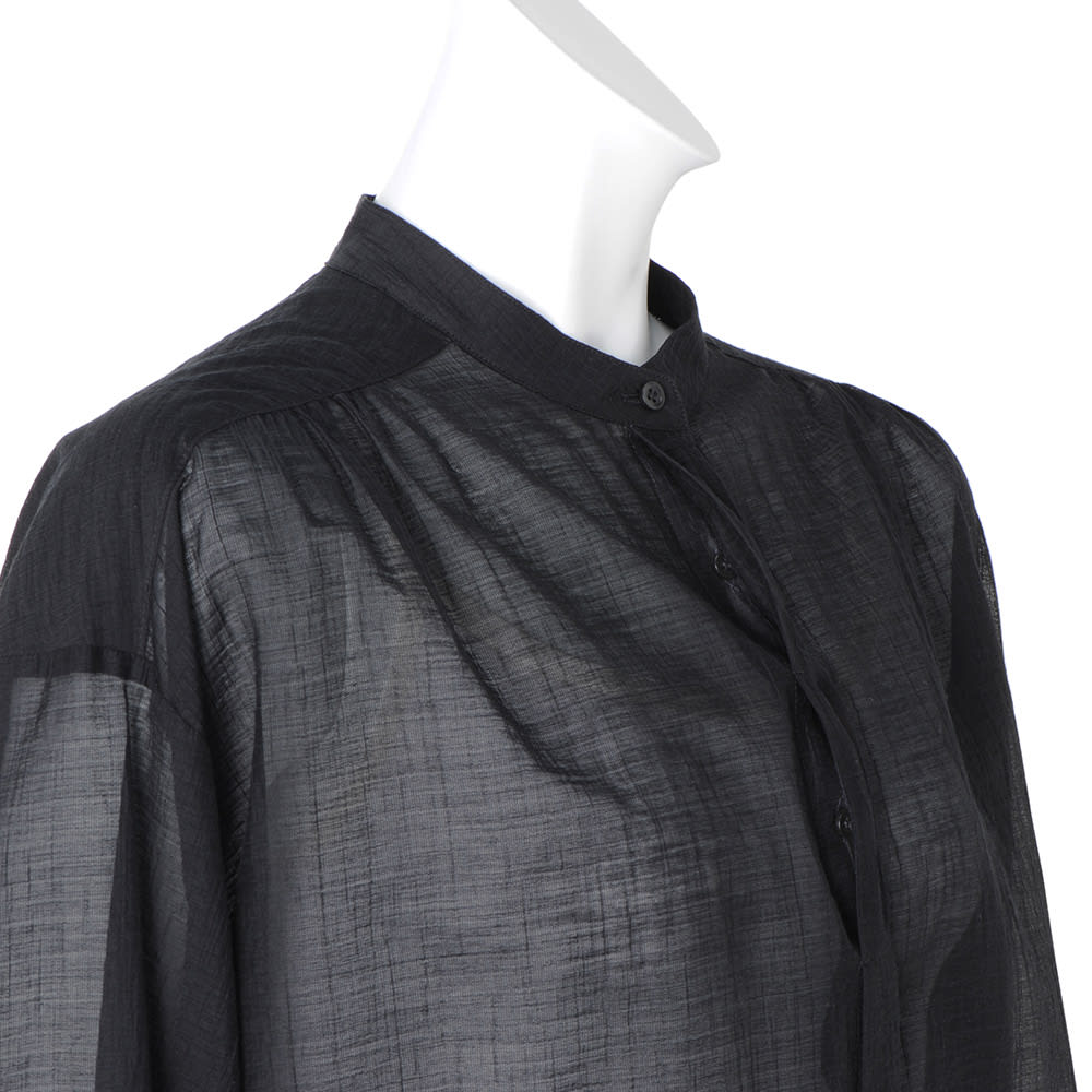 フランス素材 シアー楊柳 ボリュームシャツ