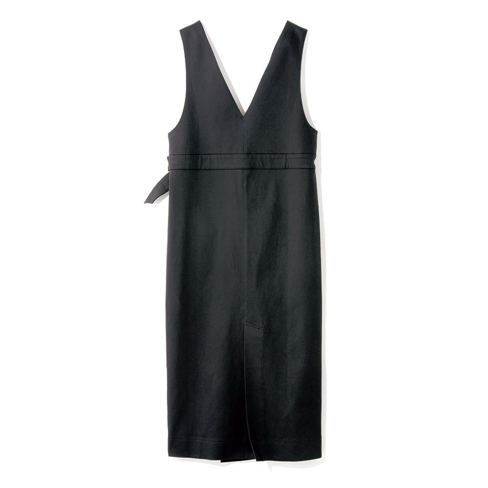 イタリア素材 コットン ジャンパースカート Back