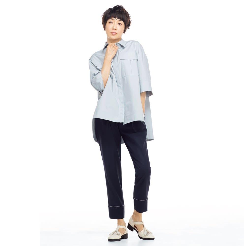 ポケットデザイン ワークシャツ コーディネート例